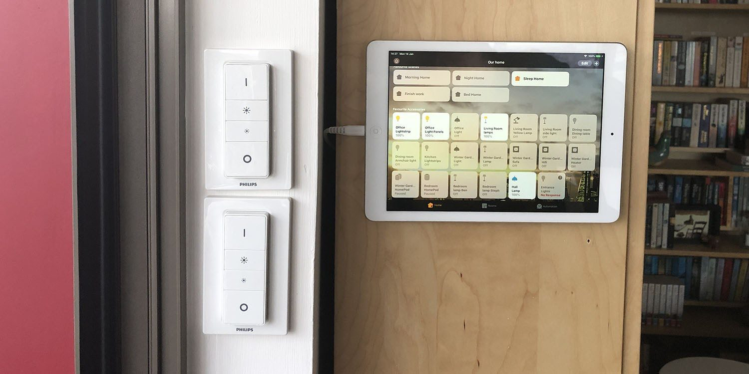 Repurposing an iPad Air as a home control panel